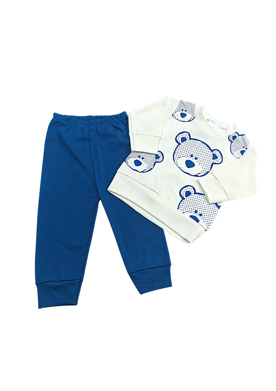 Conjunto Urso  - Camisa Manga Longa e Calça - 02 Peças - 04 à 06 Meses - Gente Miúda