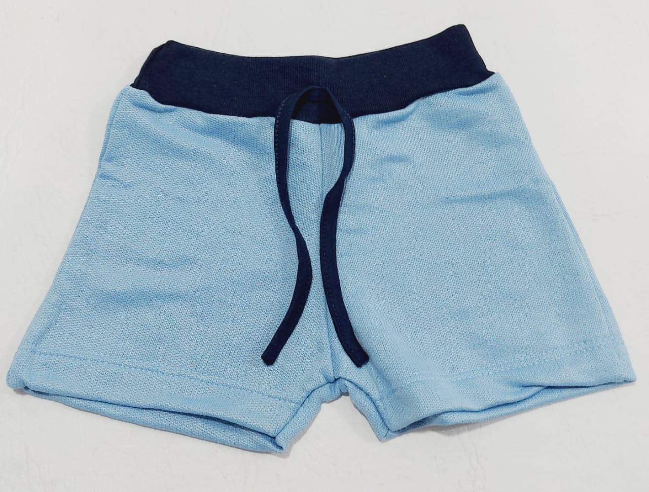 Conjunto Verão Bailarina Azul - Camisa Regata E Shorts - 02 Peças - 1 à 2 Anos - Fashion Kids