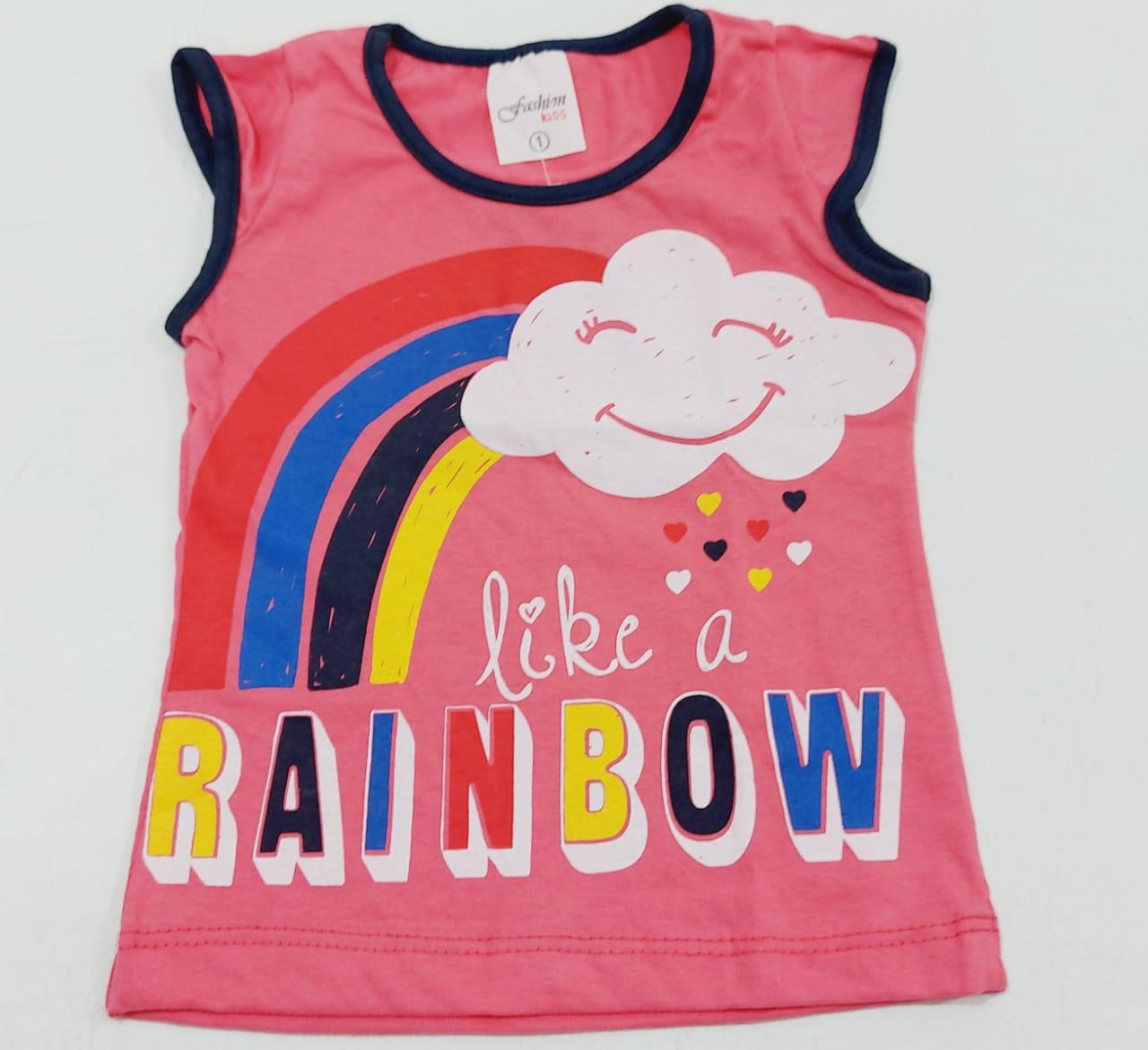 Conjunto Verão Nuvem - Camiseta E Shorts - 02 Peças - 1 à 3 Anos - Fashion Kids