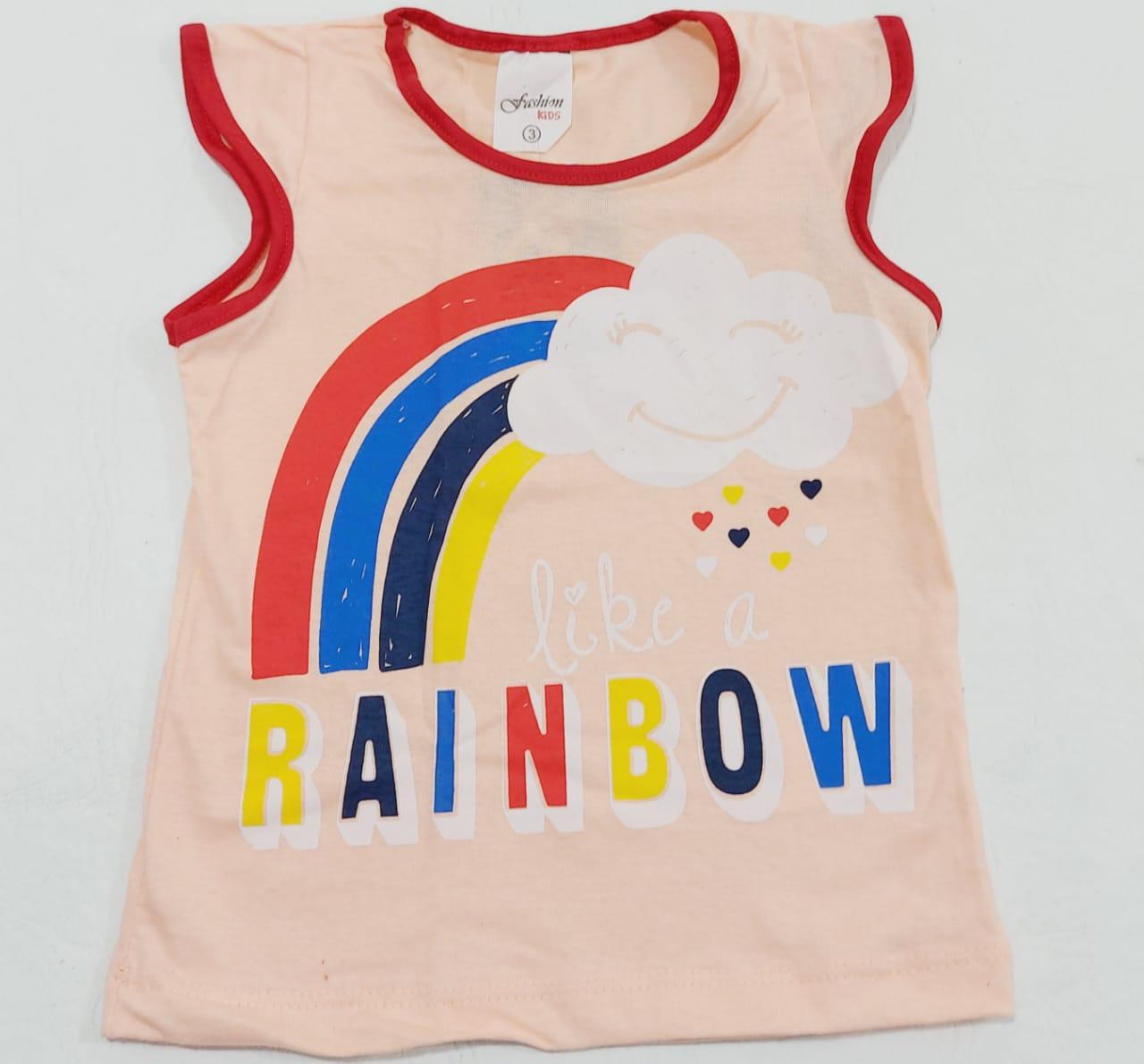 Conjunto Verão Nuvem - Camiseta E Shorts - 02 Peças - 2 à 3 Anos - Fashion Kids