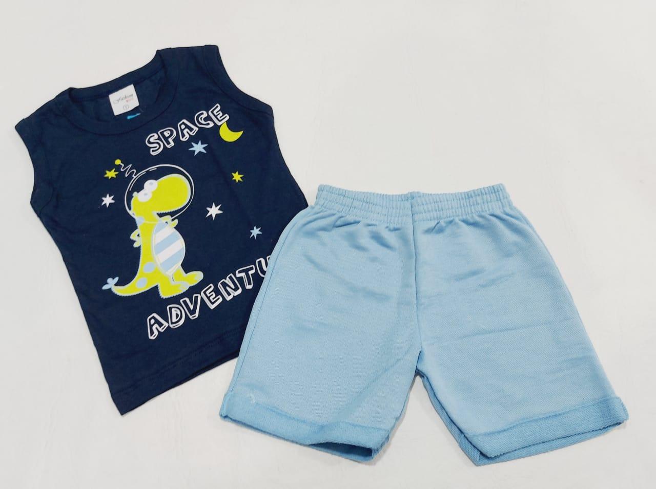 Conjunto Verão Space - Camisa Regata E Shorts - 02 Peças - 1 à 2 Anos - Fashion Kids