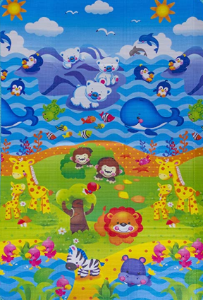 Tapete Infantil ABC Leão da Selva 1,20x1,80m - Dupla Face Ibimboo