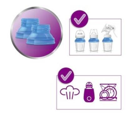 Copos Para Armazenamento De Leite Materno - 10 Copos - 0m+ - Philips Avent