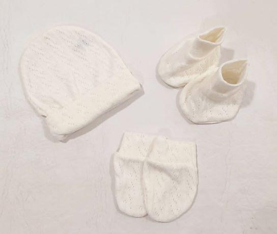 Kit C/ Touca Luvinha e Sapatinho - Tam RN - Angel Baby