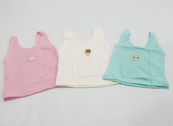 Kit Camiseta Regata - 3 UN - Tam P - Cia do Bebê