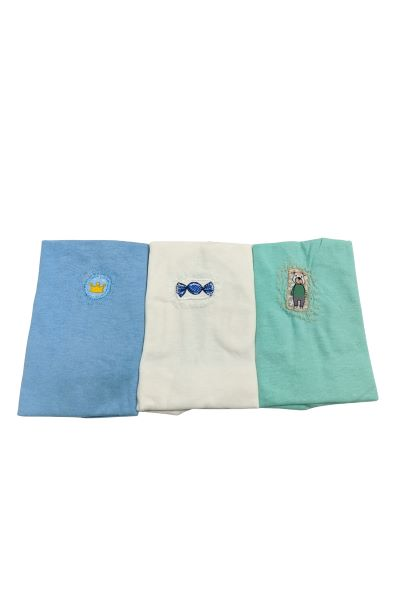 Kit Camiseta Regata - Cores sortidas - 03 Peças - 100% Algodão - Cia do Bebê