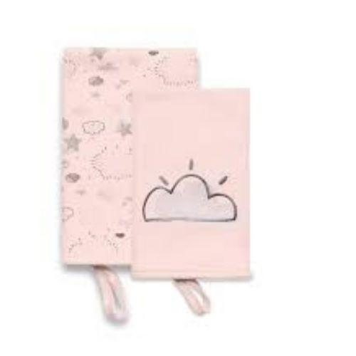 Kit Babetes c/ Prendedor 02 UN Hug - Névoa Rosa