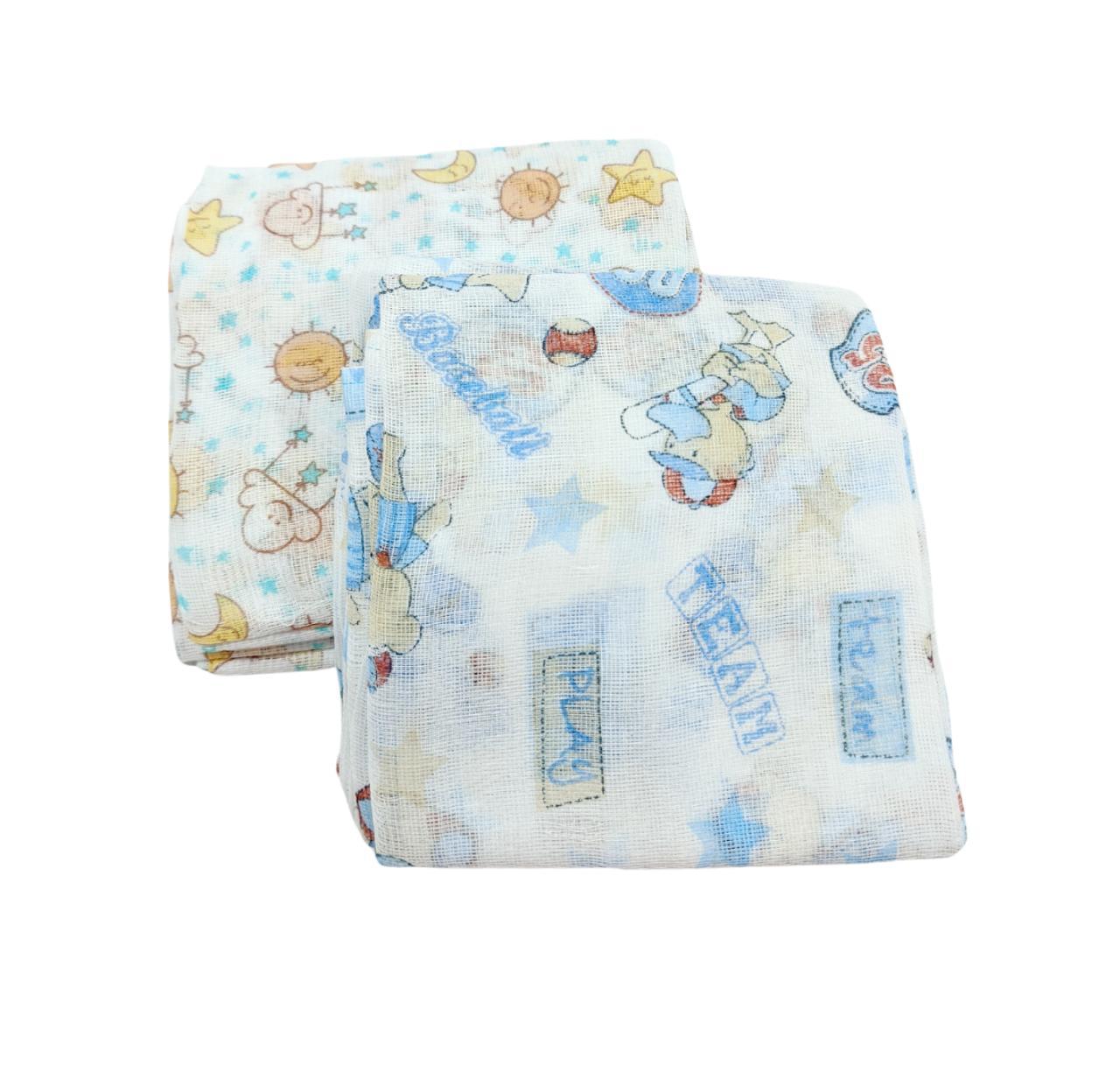 Kit de Fraldas Estampadas - Tecido Duplo - 15 Unidades - 100% Algodão - 65cm x 65cm - Carícia Baby