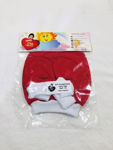 Kit Touca Luva e Meia - 3 Peças - Cia Do Bebê