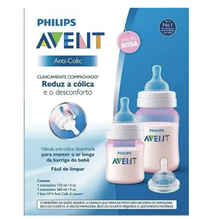 Kit Mamadeiras Clássica - 125ml e 260ml - Philips Avent