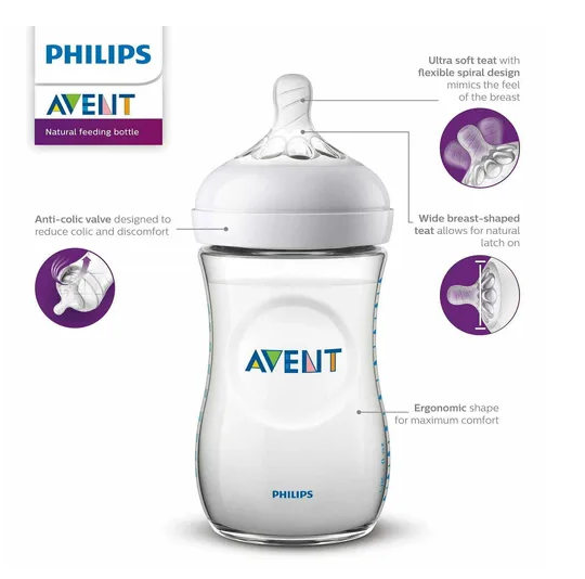 Kit Mamadeiras Pétala 125ml, 260ml - 2 uni Philips Avent