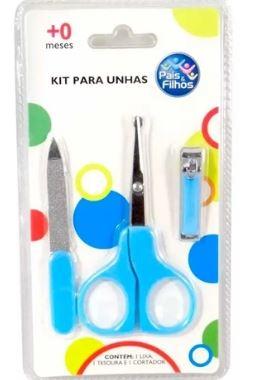 Kit Manicure 03 Peças 0+ Pais e Filhos - Azul