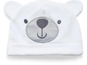 Kit 3 Peças - Touca Luva e Sapatinho - Com Bordado Protegido - Malha 100% ALgodão - Hug