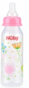 Mamadeira Estampada Bico Normal 240ml - NûBy