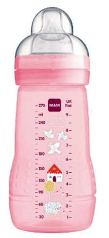 Mamadeira Easy Active 330 ml - 2m+ - Passáros - MAM