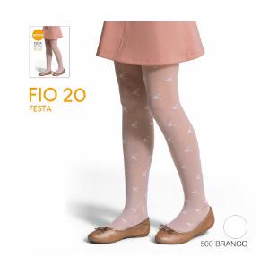 Meia Calça de Festa - Fio 20 e Micro Desenhos - Poliamida - Selene