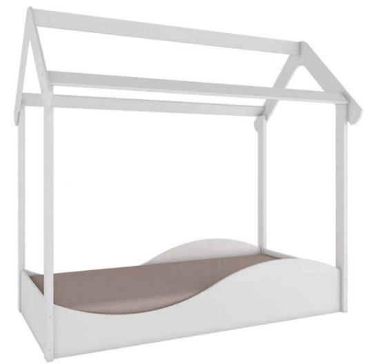 Mini Cama Infantil Montessoriana Uli - Branca - Móveis Peroba