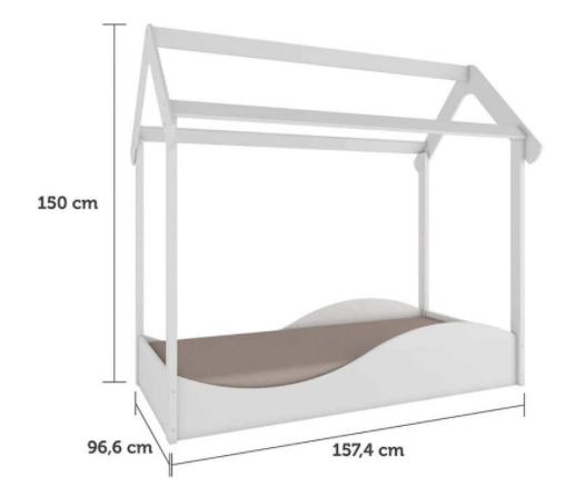 Mini Cama Infantil - Montessoria - Modelo Uli - Branca - Móveis Peroba