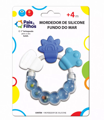 Mordedor de Silicone Fundo do Mar