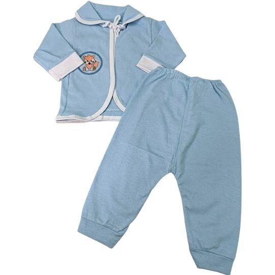 Pagão 03 Pçs Cia do Bebê - Azul Menino