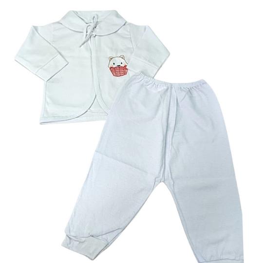 Pagão 03 Pçs Cia do Bebê - Branco Unissex