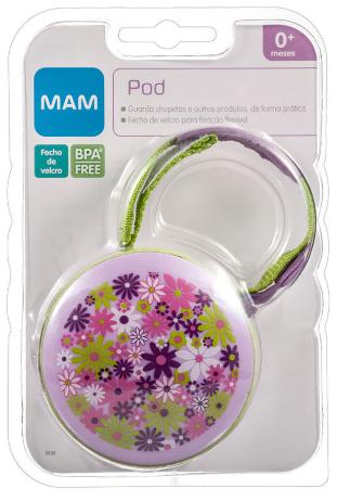 Porta Chupeta - POD - Fecho de VElccro - BPA Free - 0+m- MAM