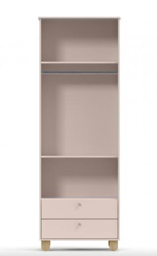 Roupeiro Zupy - 2 Portas -Cores com Natural - MDF - Matic