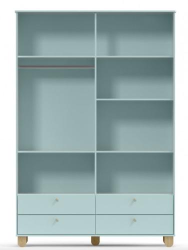 Roupeiro Zupy - 4 Portas - Cores com Natural - MDF - Matic