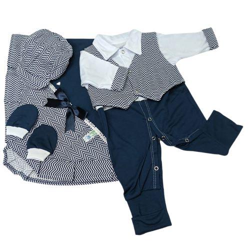 Saída de Maternidade Azul Marinho - RN - Cia do Bebê