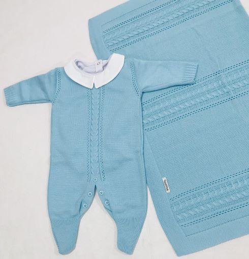 Saída de Maternidade Trança em Tricot C/ Body - 3 peças - Tamine Baby