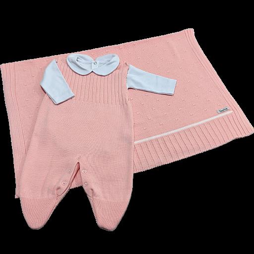 Saída de Maternidade Tricot 03 Pçs Tamine Baby - Rosé