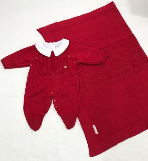 Saída de Maternidade Tricot C/ Body - 3 peças - Tamine Baby