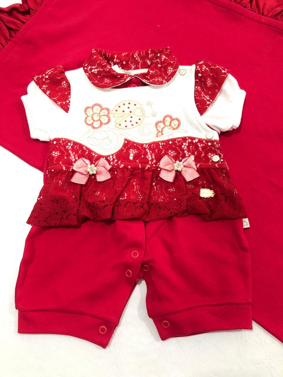 Saída de Maternidade Joaninha Vermelha - Pipoquinhas