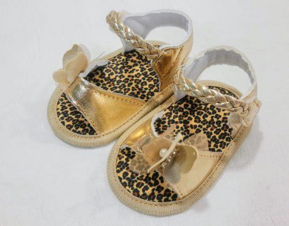 Sandália Borboleta Dourada - Menina - Keto