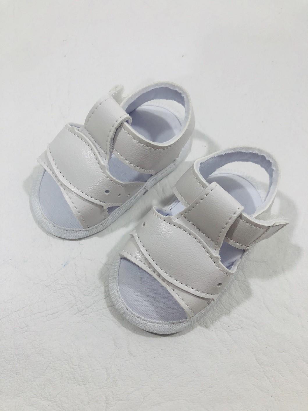 Sandália Branca Menino Keto Baby