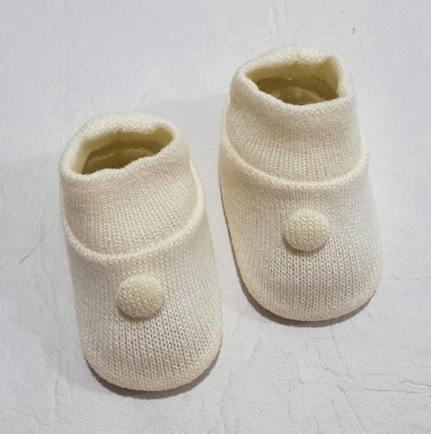 Sapatinho em Tricô - 0 a 3 meses - Tricart Baby