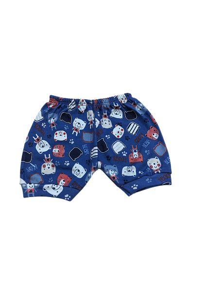 Shorts Estampado - 100% Algodão Suedine - 0 à 6 Meses - Mafessoni