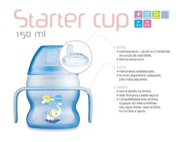 Starter Cup Pattern - Copo de Treinamento - 4m+  - 150ml - MAM
