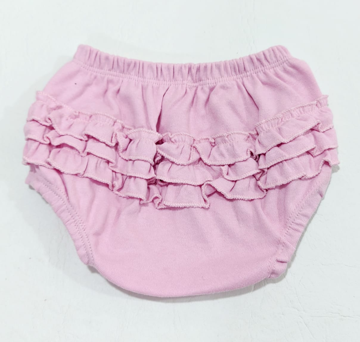 Tapa Fralda Liso - Babados - 100% Algodão Suedine - 0 à 2 meses - Yala Baby