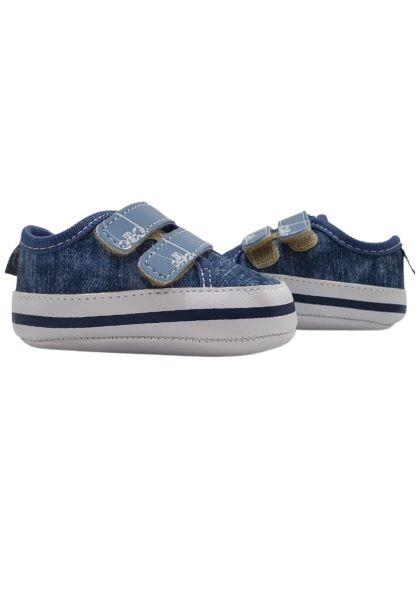 Tênis Azul Jeans - 01 à 04 Meses - Pimpolho
