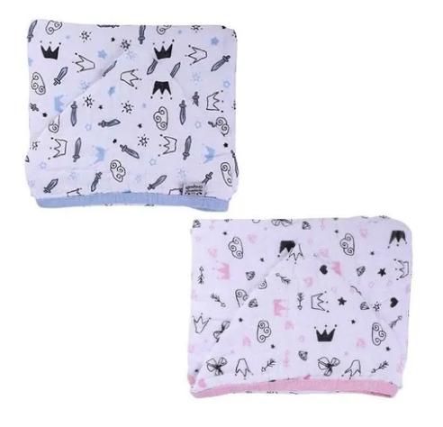 Toalha de Banho Soft Estampada - Com Capuz  - 100% Algodão - 85cm x 85cm - Reininho Encantado