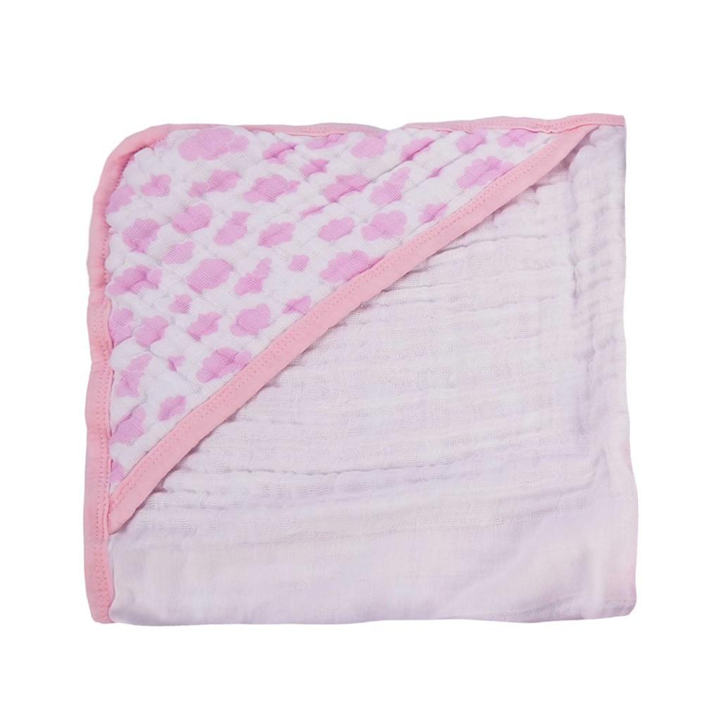 Toalha de Banho Soft Nuvem - Com Capuz  - 100% Algodão - 85cm x 85cm - Alvinha Minasrey