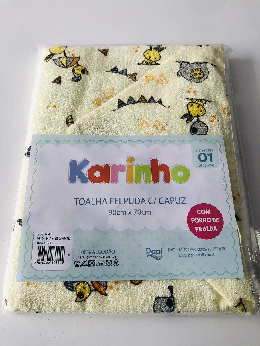 Toalha Felpuda com Capuz Karinho