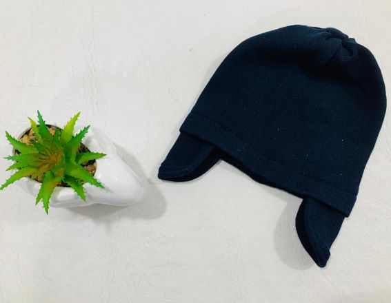 Touca Tricot Com Orelhinha - 01 peça - Em Acrílico - Tricart Baby