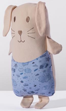 Travesseiro Agarradinho Névoa - Com Bordado Protegido- 29cm x 45cm - Algodão 100% Suedine - Hug