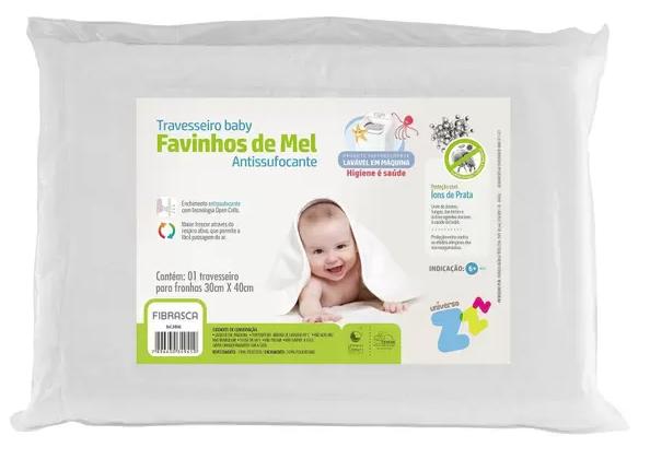 Travesseiro Favinhos de Mel Antissufocante - 30cm x 40cm - Fibrasca