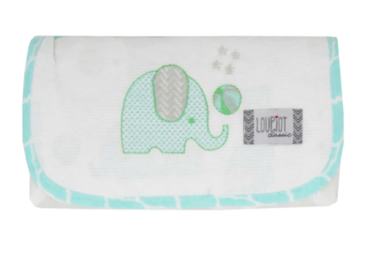 Trocador Portátil De Fraldas Elefante - Velcro - 47cm x 67cm - Loupiot Minasrey