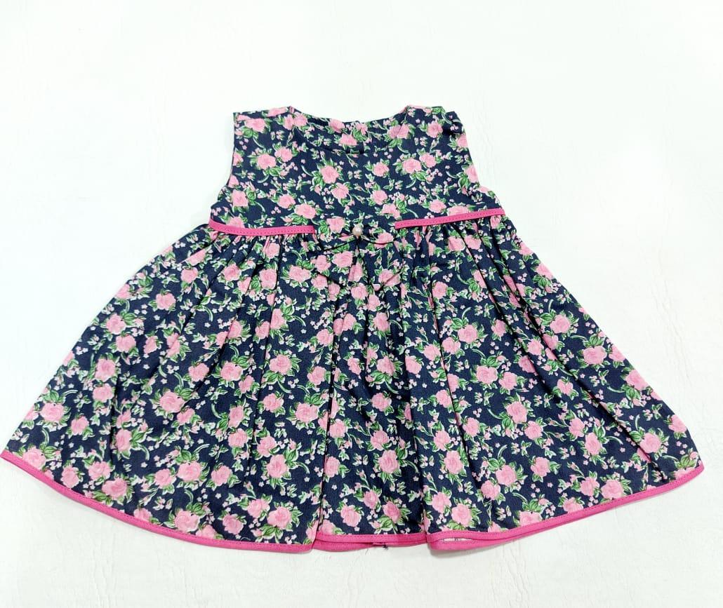 Vestido Estampado - Curto S/ Mangas - 01 Peça - 100% Algodão - Smart Kids Confecções