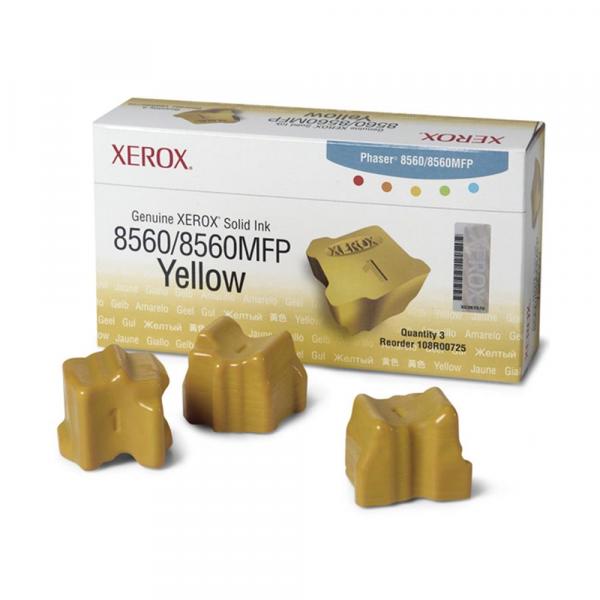 Bastão de Cera Original Xerox 108R00766 - 108R766 Phaser 8560 8560MFP - 3900 Pgs ? Kit com 3 bastões
