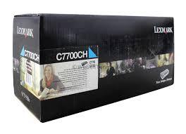 Cartucho Toner Original Lexmark Ciano Rendimento C7700CH